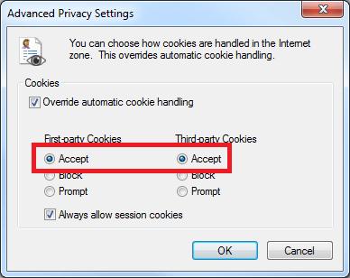 Enabling Cookies - Internet Explorer